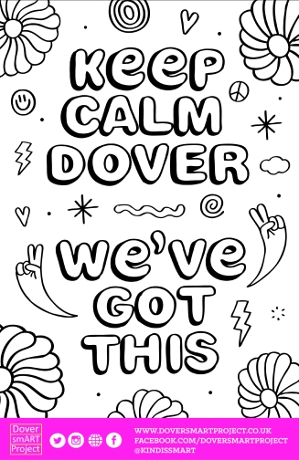 Keep Calm Dover Blank Poster